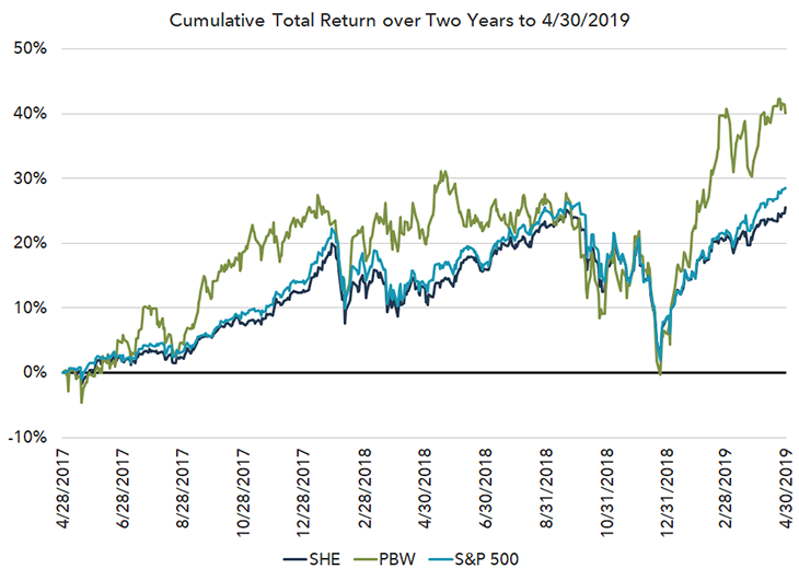 Cumulative Total Return over Two Years