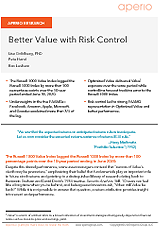 Better Value with Risk Control